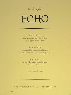 Echo Sextuor HAYDN Partition Sextuors - laflutedepan