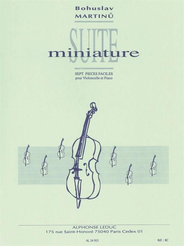 Suite Miniature - MARTINU - Partition - laflutedepan.com