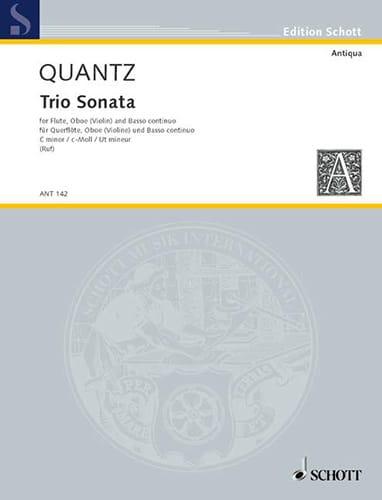 Triosonate c-moll -Flöte Oboe Violine Bc - QUANTZ - laflutedepan.com