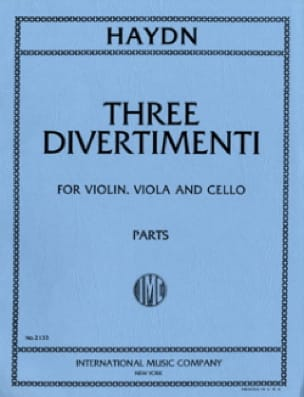 3 Divertimenti -Parts - HAYDN - Partition - Trios - laflutedepan.com