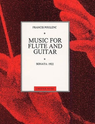 Sonata 1922 - Flûte guitare POULENC Partition Duos - laflutedepan