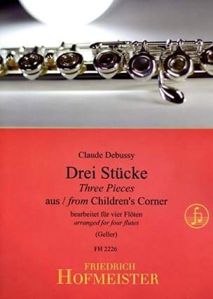 3 Stücke aus Children's Corner -4 Flöten DEBUSSY laflutedepan