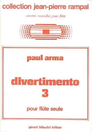 Divertimento n° 3 - Flûte seule - Paul Arma - laflutedepan.com