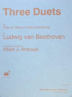3 Duets - Flute oboe, violin clarinet - BEETHOVEN - laflutedepan.com