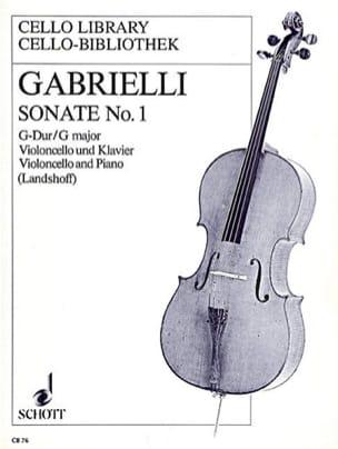 Sonate n° 1 G-Dur Domenico Gabrielli Partition laflutedepan