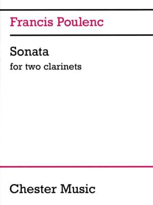 Sonate pour 2 clarinettes POULENC Partition Clarinette - laflutedepan