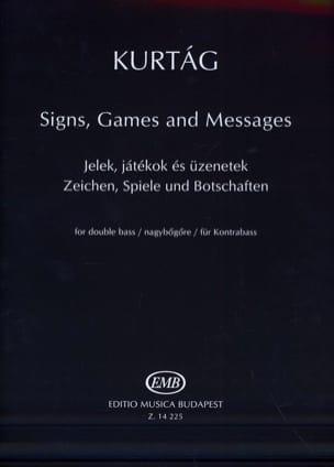 Signs Games Messages KURTAG Partition Contrebasse - laflutedepan