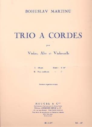 Trio à cordes -Conducteur + parties - MARTINU - laflutedepan.com