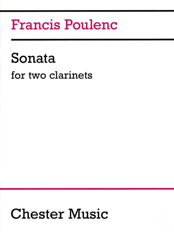 Sonate pour 2 clarinettes - POULENC - Partition - laflutedepan.com