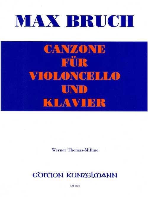 Canzone - Violoncelle - BRUCH - Partition - laflutedepan.com