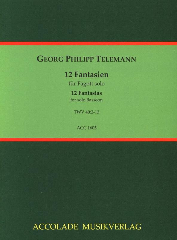 12 Fantasias - TELEMANN - Partition - Basson - laflutedepan.com