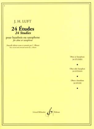 24 Etudes Julius Heinrich Luft Partition Hautbois - laflutedepan
