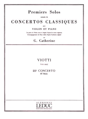 Viotti Giovanni Battista / Catherine Georges - 1st solo of the Concerto n ° 22 - Partition - di-arezzo.co.uk