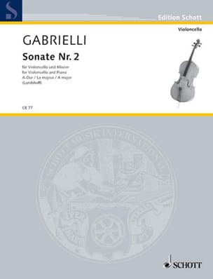 Sonate n° 2 A-Dur Domenico Gabrielli Partition laflutedepan