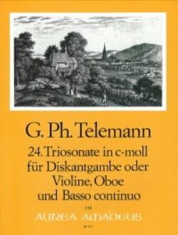 Triosonate Nr. 24 in c-moll -Diskantgambe Violine Oboe Bc laflutedepan