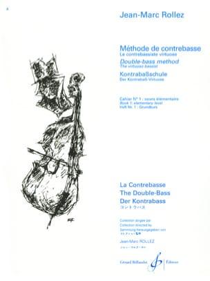Jean-Marc Rollez - Método de contrabajo Volumen 1 - Partition - di-arezzo.es