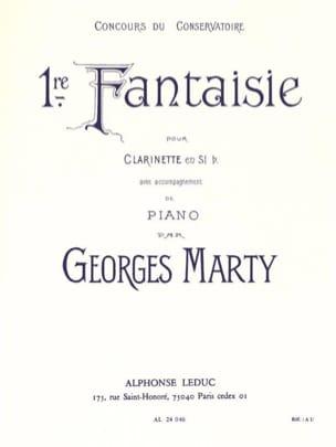 Fantaisie n° 1 Georges Marty Partition Clarinette - laflutedepan