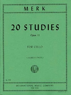 20 Studies op. 11 for Cello - Joseph Merk - laflutedepan.com