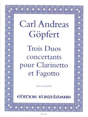 3 Duos concertants Carl Andreas Göpfert Partition Duos - laflutedepan
