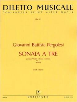 Sonata a tre Nr. 11 d-Moll -2 Violinen u. Bc PERGOLESE laflutedepan