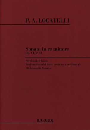 Sonata in re minore, op. 6 n° 12 - LOCATELLI - laflutedepan.com