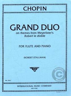 CHOPIN - Grand Duo - Piano Flute - Partition - di-arezzo.co.uk
