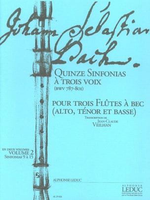 Quinze Sinfonias à Trois Voix vol.2 - BWV 787-801 BACH laflutedepan