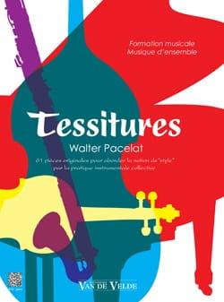 Tessitures Walter Pacelat Partition Solfèges - laflutedepan