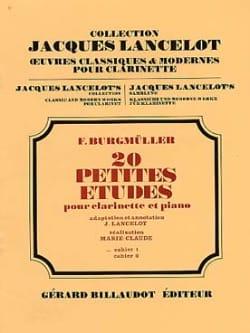 20 Petites études - Volume 1 Frédéric Burgmüller laflutedepan