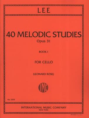 40 Melodic Studies op. 31 - Volume 1 Sebastian Lee laflutedepan