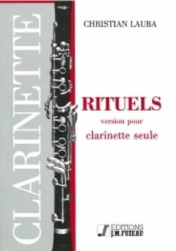 Rituels Christian Lauba Partition Clarinette - laflutedepan
