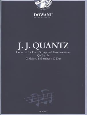Concerto pour flûte QV 5:174 sol maj. QUANTZ Partition laflutedepan