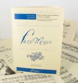 2 Sonates Pour Hautbois et Basse Continue laflutedepan