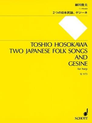 Two Japanese Folk Songs and Gesine Toshio Hosokawa laflutedepan