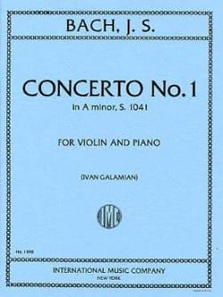Concerto in A minor n° 1 BWV 1041 - Violin BACH Partition laflutedepan