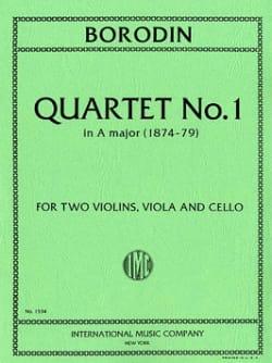Quartet n° 1 A major -Parts BORODINE Partition laflutedepan