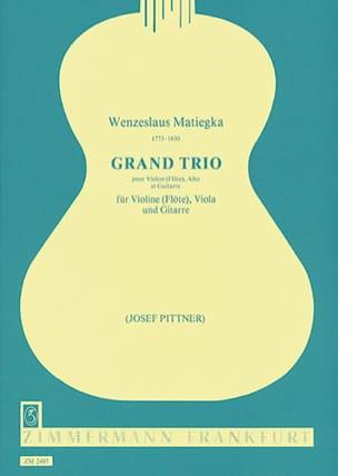 Grand Trio -Stimmen - Wenzeslaus Matiegka - laflutedepan.com