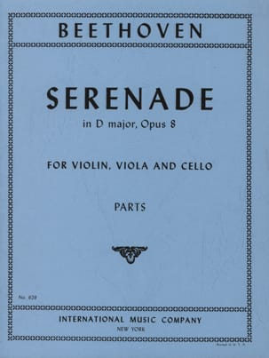 BEETHOVEN - Serenade D-Dur op. 8 - Parts - Partition - di-arezzo.co.uk