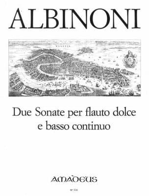 2 Sonaten - Altblockflöte Und Bc ALBINONI Partition laflutedepan