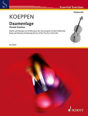 Daumenlage Gabriel Koeppen Partition Violoncelle - laflutedepan