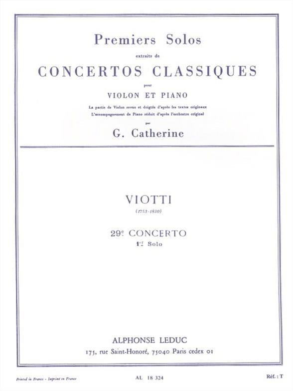 1er Solo du Concerto n° 29 - laflutedepan.com