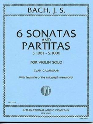 6 Sonatas and Partitas BWV 1001-1006 - BACH - laflutedepan.com