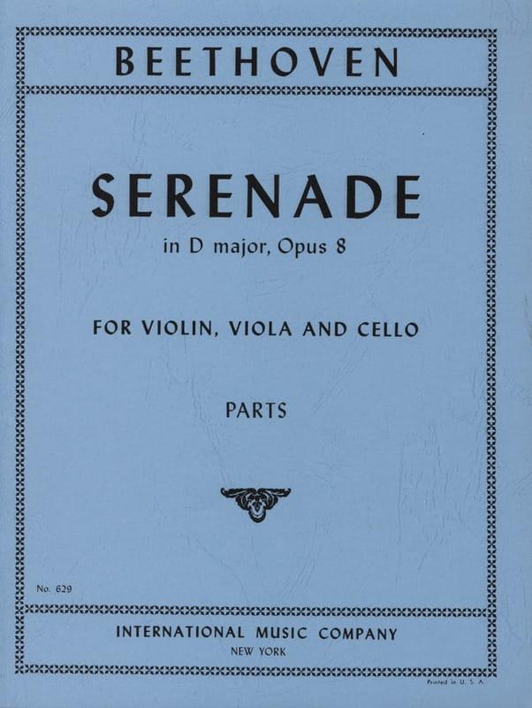 Serenade D-Dur op. 8 -Parts - BEETHOVEN - laflutedepan.com
