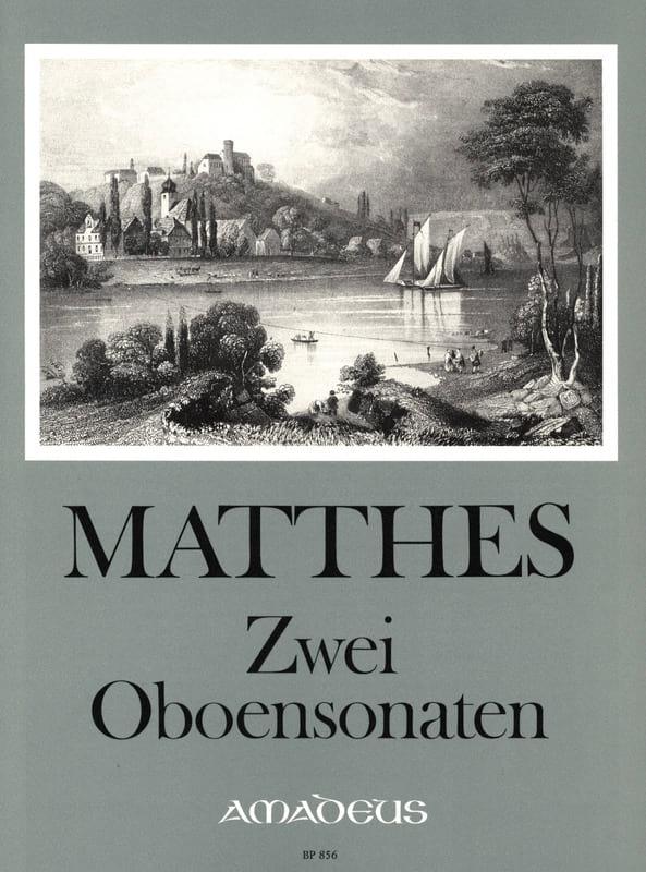 2 Oboensonaten - Carl Ludwig Matthes - Partition - laflutedepan.com