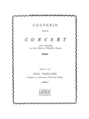 Concert à 2 violoncelles COUPERIN Partition Violoncelle - laflutedepan