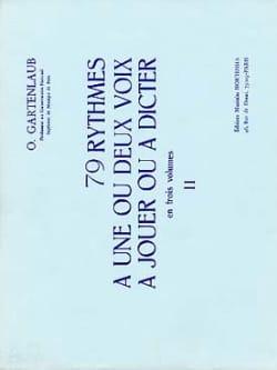 79 Rythmes - Volume 2 Odette Gartenlaub Partition laflutedepan