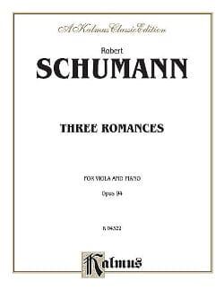3 Romances op. 94 SCHUMANN Partition Alto - laflutedepan