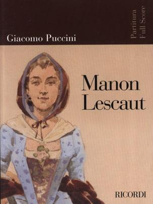 Manon Lescaut nouvelle édition - Score PUCCINI Partition laflutedepan