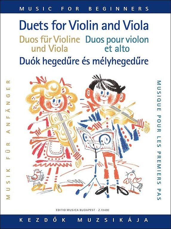 Duets for violin and viola for beginners - laflutedepan.com