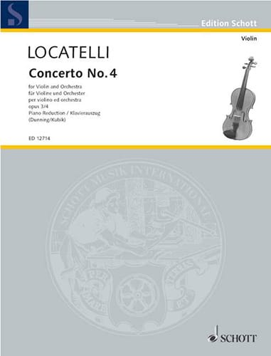 Concerto Violon op. 3 n° 4 en mi majeur - LOCATELLI - laflutedepan.com